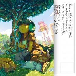 Carte Postale Tomates et Papillons
